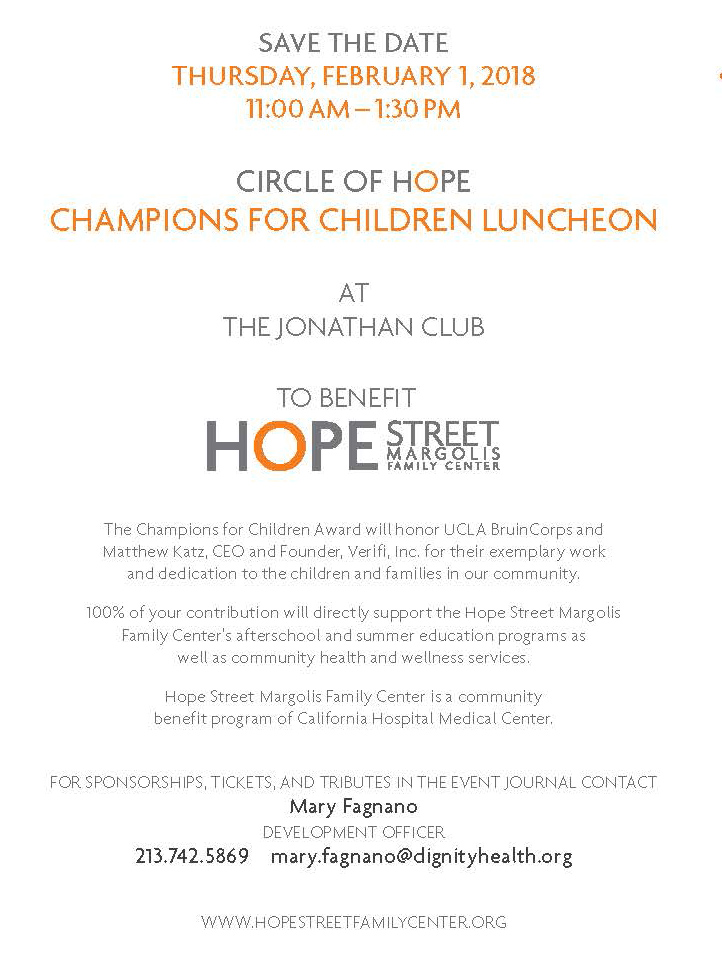 Circle of Hope Luncheon invitation details